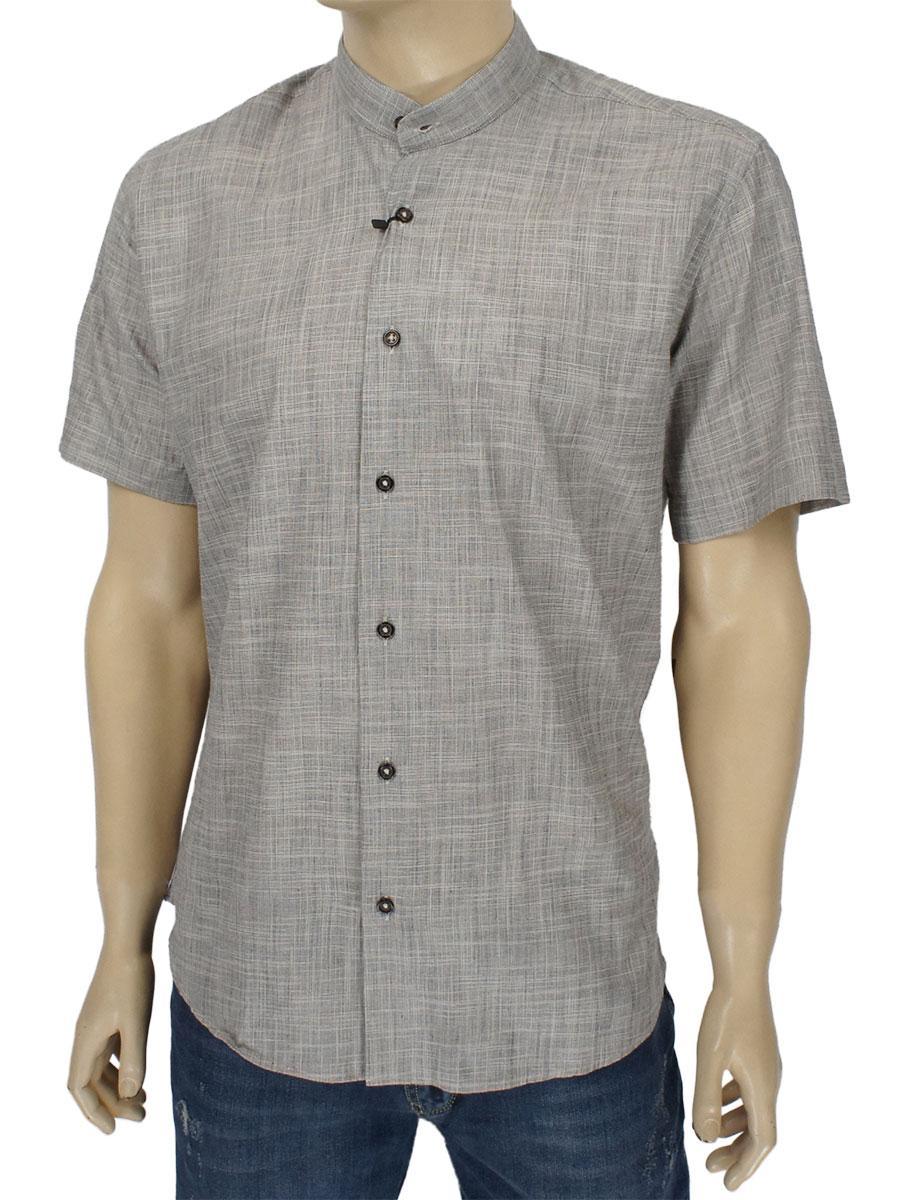 Чоловіча сорочка сірого кольору Negredo 9074#04 grey