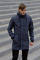 Куртка и штаны карго комплект мужской качественный модный удлиненный серый Intruder Softshell, фото 1