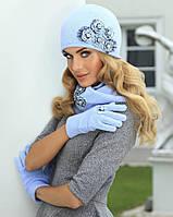 Романтичная шапка, украшенная нежными цветами, от Kamea - Eleonora.