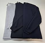 Чоловіча кофта,толстовка утеплена, трикотаж-начіс.Колір графіт, фото 7