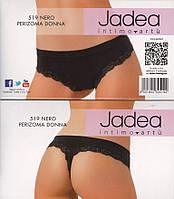 Трусы-стринг с заниженной талией, Jadea 519 черные