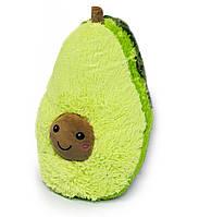 Подушка авокадо іграшка, плюшевий 40 см з коричневою мордочкою, авокадік | мягкие игрушки авокадо, фото 1