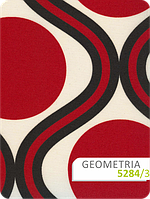 Геометрия (геометрія) рулонные шторы с красным рисунком