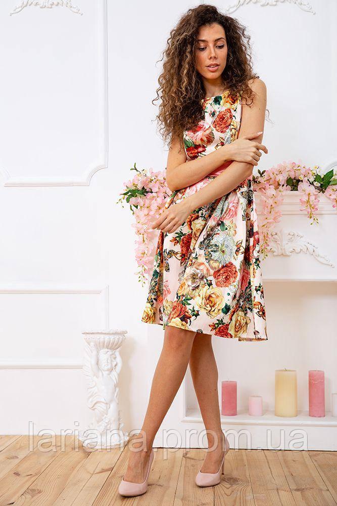 Сукня 167R0117 колір Бежево-рожевий