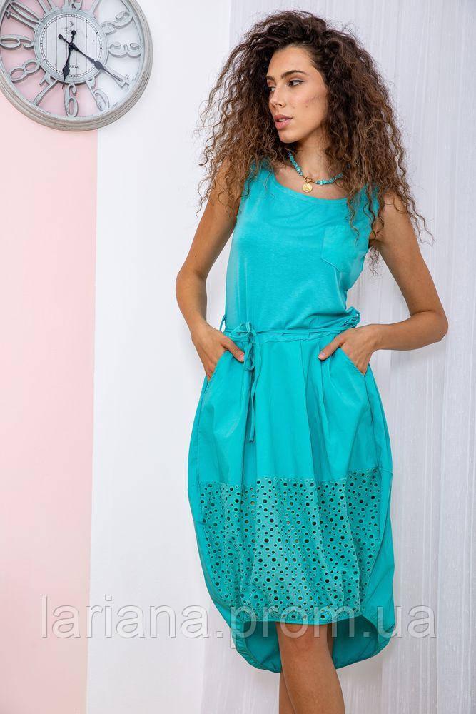 Сукня 167R008-1 колір Бірюзовий