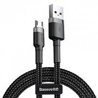 Кабель BASEUS CAMKLF-BG1 Cafule USB-micro USB 2.4A, 1м, черный