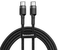 Кабель BASEUS CATKLF-GG1 USB Type-C-USB Type-C 3A, 1м, черный