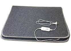 Коврик с подогревом, ковролин ЕК-3-220 100х70см, серый