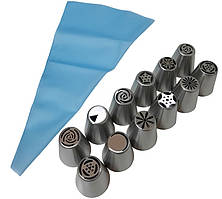 Набор мешок кондитерский с насадками MH-3830, 24 шт.
