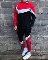 Зимний спортивный костюм на флисе Nike. Тёплый спортивный костюм. Свитшот и штаны на флисе Nike Найк