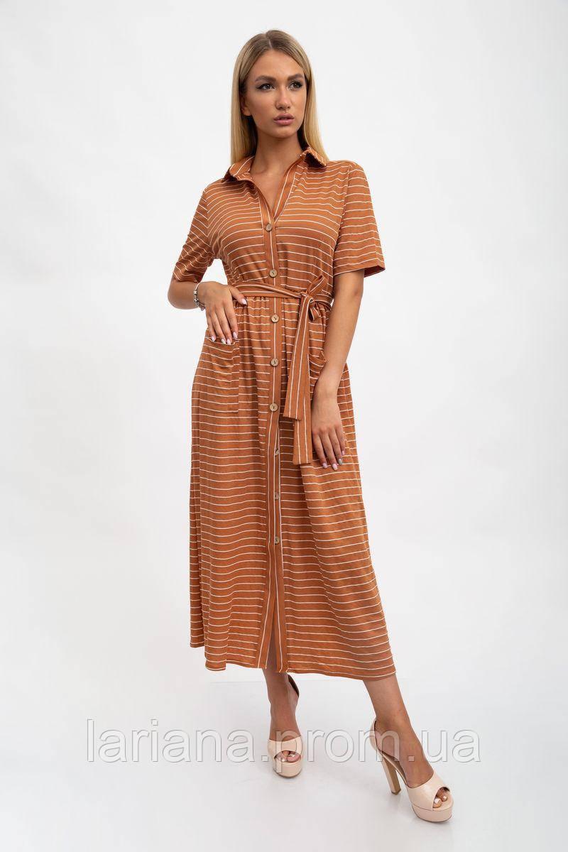 Сукня жіноча 115R3731 колір Коричневий
