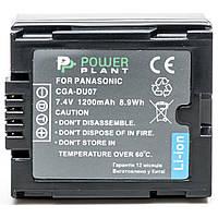 Акумулятор до фото/відео PowerPlant Panasonic VW-VBD070, CGA-DU07 (DV00DV1339), фото 2