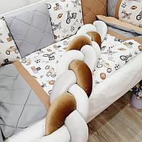 """Бортики в ліжечко малюка на 4стороны. """"мопеди"""", фото 1"""