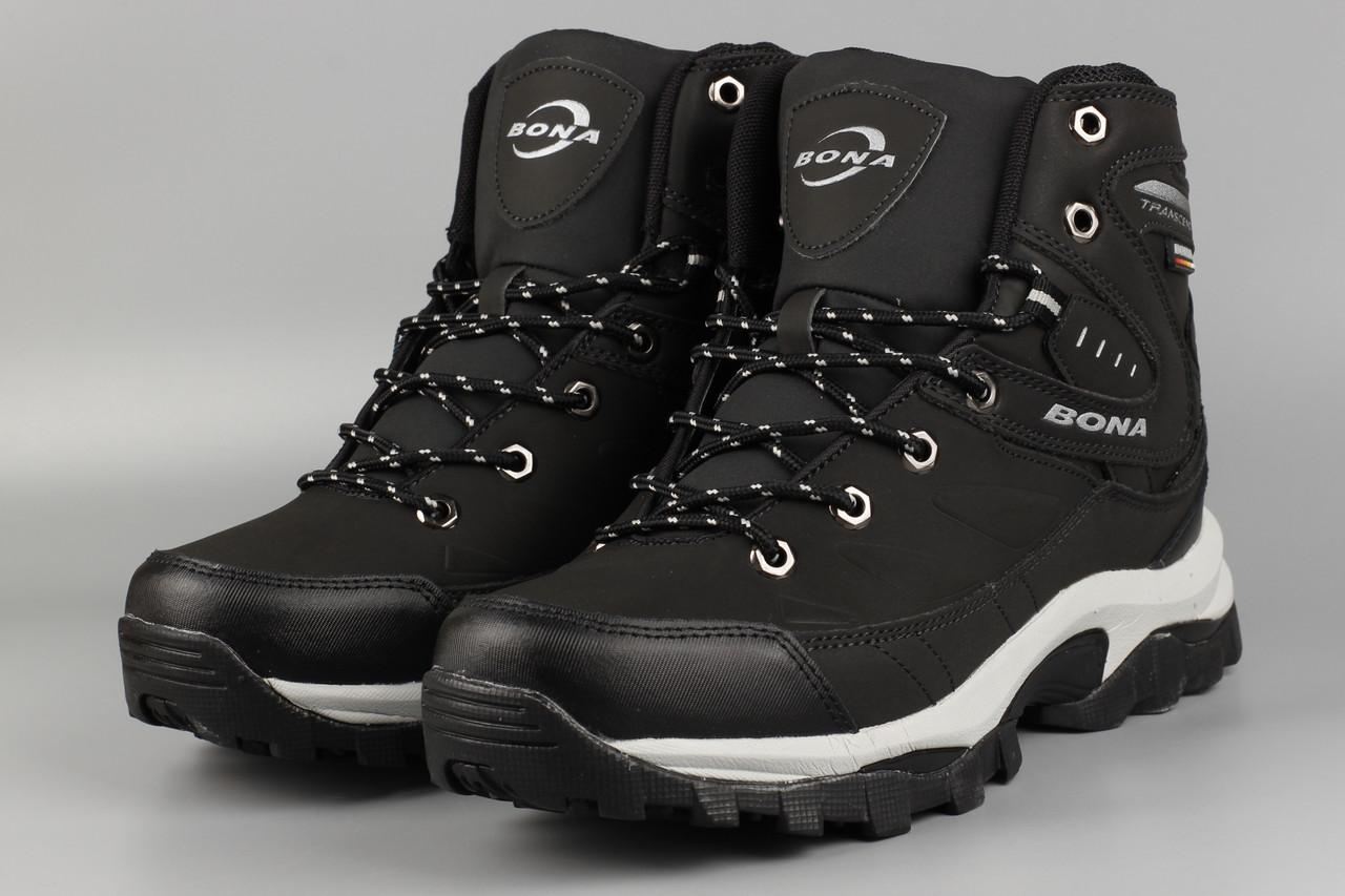 Ботинки мужские черные Bona 856D-6 Бона Размеры 41 42 43 44 45 46