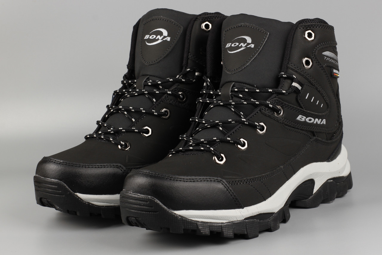 Черевики чоловічі чорні Bona 856D-6 Бона Розміри 41 42 43 44 45 46