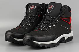 Ботинки мужские черные Bona 855G-6 Бона Размеры 41 42 43 44 45 46