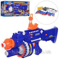 Детский игрушечный Автомат - бластер с мягкими пулями 70 шт, очки