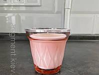 Свічка у склянці, з ароматом суниці лісової/темно-рожева 8 см, фото 1