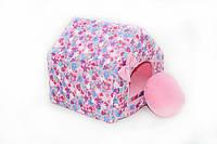 Домик для собак и кошек Звездочка розовая, фото 1