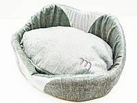 Лежак для собак и котов Мистик серый, фото 1