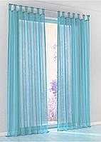 Декоративные шторки из шифона, на петлях (голубые)