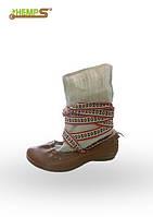Обувь из конопли. Постолы.