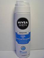 Гель для бритья мужской Nivea Sеnsitive 200 мл. (Нивея Для чувствительной кожи,Охлаждающий), фото 1