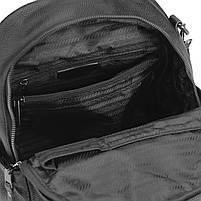 Рюкзак міський жіночий чорний. Жіночий шкіряний рюкзак (23515), фото 7