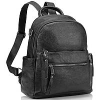 Рюкзак міський жіночий чорний. Жіночий шкіряний рюкзак (23515), фото 3