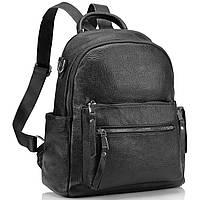 Рюкзак женский черный городской. Женский кожаный рюкзак (23515), фото 3