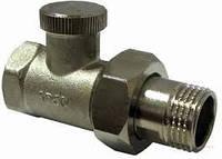 507005 Кран для радиатора с накидной гайкой, с уплотнителем, угловой под ключ (Arco)