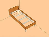 Кровать на МЕТАЛЛОКАРКАСЕ односпальная 1,90*0,80 Мелитополь под заказ
