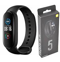 Фитнес браслет Smart Mi Band M5 Xiaomi с измерением кислорода и давления. Смарт часы. Фитнес трекер Реплика