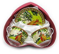 "Сервиз из тонкого фарфор (2HE10140-5) Yamasen 2 чашки + 2 блюдца ""Гейша"""