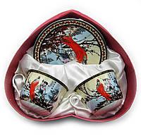 "Сервиз из тонкого фарфор (2HE102) Yamasen 2 чашки + 2 блюдца ""Сакура"""