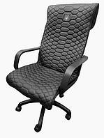 Чехол на офисное кресло Золотой Трезубец экокожа 00879