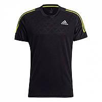 Футболка adidas Own The Run T-Shirt Black/Yellow - Оригінал, фото 1