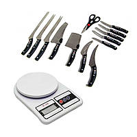 Набор ножей Miracle Blade 13 in 1 в подарок Кухонные весы SF-400 SKL11-277568