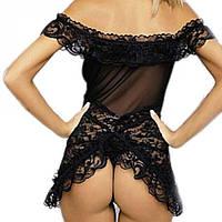 Сексуальное ажурное платье пеньюар