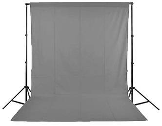 Фон для фото, фотофон тканевый Серый (150 см.×300 см.)