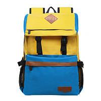 Рюкзак Kinouchi желто-голубой