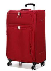 Чемодан тканевый на 4х колесах большой  L красный | 79х47х30 см | 3.900 кг | 110 л | Snowball 91903