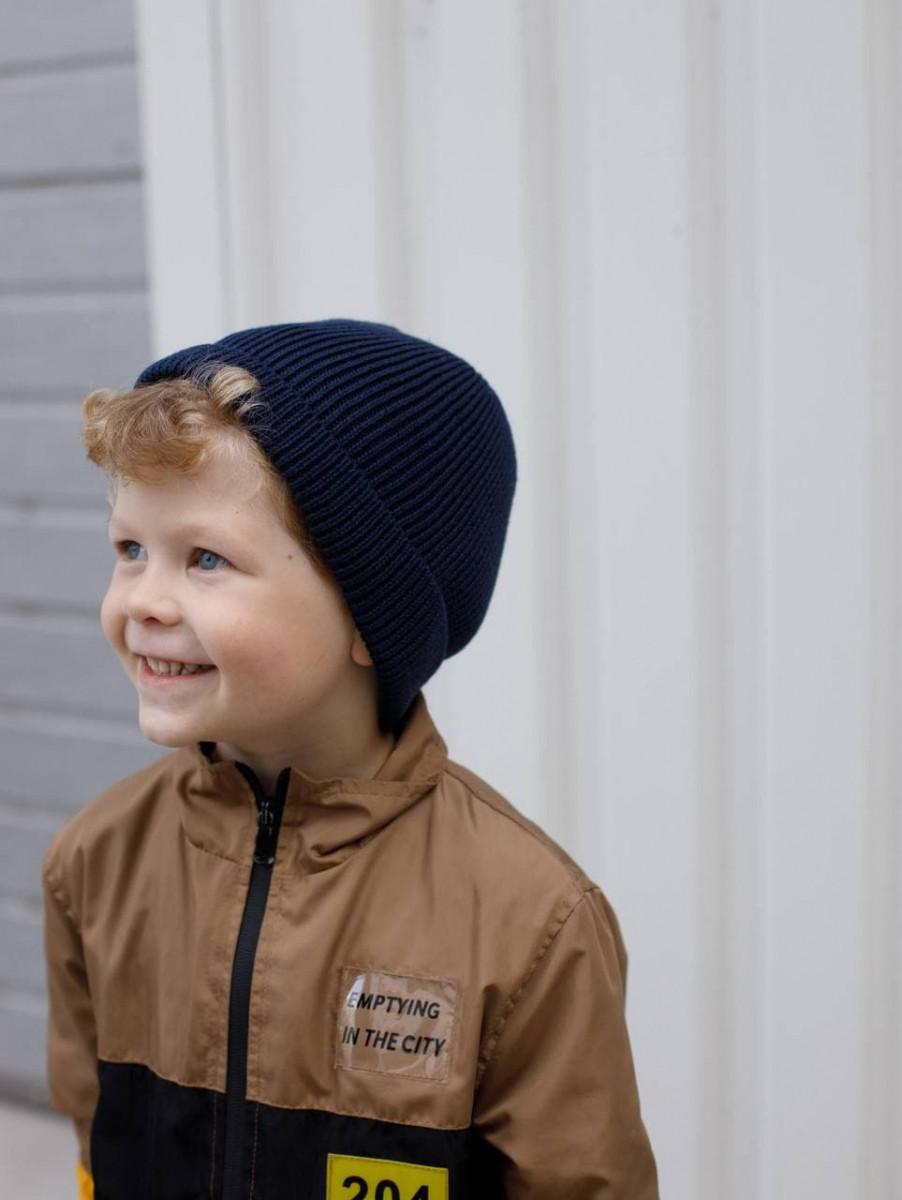 Шапка c відворотом на весну-осінь для хлопчика оптом - Артикул 2945