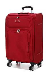 Чемодан тканевый  на 4х колесах средний  M красный  | 67х40х27 см | 3.1 кг | 72 л | Snowball 91903