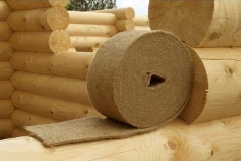 Міжвінцевий утеплювач, Міжвінцевий ущільнювач Льон-Джут для дерев'яного будинку, зрубу, лазні, сауни