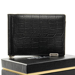 PODIUM Гаманець Crocodile шкіра BRETTON M3206 black