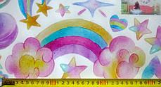 """Виниловые наклейки для детской комнаты на стены, шкаф """"три единорога"""" 100см*100см (лист 50см*70см), фото 3"""