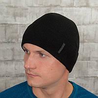 Мужская шапка на флисе Luxyart универсальный 50-60 Черный (MC-107)