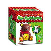 3D раскраски - фигурки Медведь