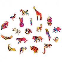 Деревянный пазл Таинственный Лев. Фигурный пазл Таинственный Лев (опт и розница)., фото 2